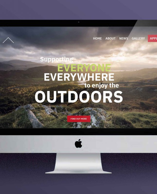 Screenshot of New Outdoors for All Website Design